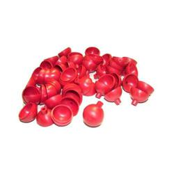 X 25 Plastic ball shells- Red 1 inch 1/8inch fuse