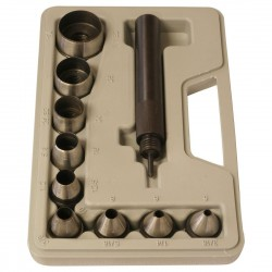 9 piece delux hole punch set