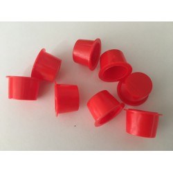 3/4 inch red plastic plugs X100