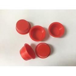 1 inch Red plastic plugs X100